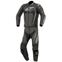 Alpinestars Motegi v2 2 Piece Motorcycle Leathers (Black Anthracite & White)