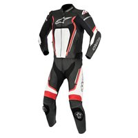 Alpinestars Motegi v2 2 Piece Motorcycle Leathers (Black Red & White)