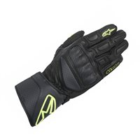 Alpinestars SP-8 Motorcycle Gloves (Black/Fluo Yellow)