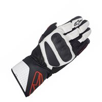 Alpinestars SP-8 Motorcycle Gloves (Black/White/Red)