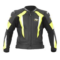 RST R-16 Isle Of Man TT Leather Jacket 1762 (Black/Yellow)