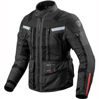 Revit Sand 3 Textile Motorcycle Jacket (Black)