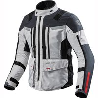 Revit Sand 3 Textile Motorcycle Jacket (Silver-Anthracite)