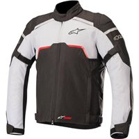 Alpinestars Hyper Drystar Motorcycle Jacket (Black & Mid Grey)