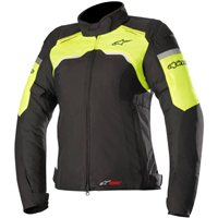 Alpinestars Stella Hyper Drystar Motorcycle Jacket (Black & Yellow)