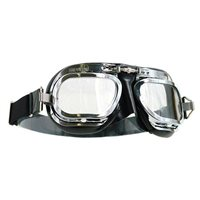 Halcyon Aviator Goggles MK10 Deluxe Curved Lens (Chrome|Black)