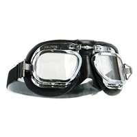 Halcyon  Aviator Goggles MK410 Deluxe Leather (Curved Lens)