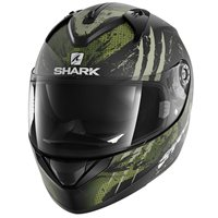 Shark Ridill THREEZY Helmet  (Mat Black/Green)