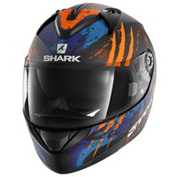 Shark Ridill THREEZY Helmet  (Mat Black/Orange/Blue)