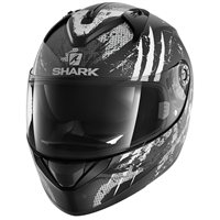Shark Ridill THREEZY Helmet  (Mat Black/White)