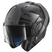 Shark EVO-ONE 2 LITHION DUAL Flip Front Helmet ( Anthracite/Black)