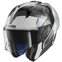 Shark EVO-ONE 2 SLASHER Flip Front Helmet (Black/White)