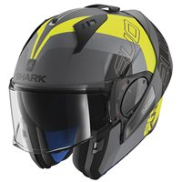 Shark EVO-ONE 2 SLASHER Flip Front Helmet (Mat Grey/Yellow)