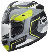 Arai Axces III Sense Motorcycle Helmet (Grey/Fluo Yellow)