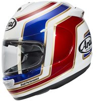 Arai Axces III Matrix Red Motorcycle Helmet (White/Red/Blue)