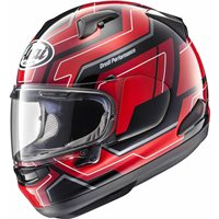 Arai QV Place Red Motorcycle Helmet