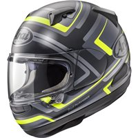 Arai QV Charged Yellow Motorcycle Helmet