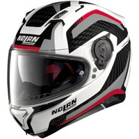 Nolan N87 ARKAD N-Com Motorcycle Helmet (White/Grey/Red)