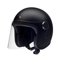 Hedon Epicurist Coal Open Faced Helmet (Matte Black)