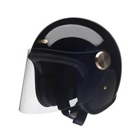 Hedon Epicurist Signature Black Open Faced Helmet (Gloss Black)