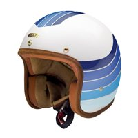 Hedon Hedonist Open Faced Helmet X Rake Apollo (White/Blue)