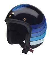 Hedon Hedonist Open Faced Helmet X Rake Artemis (Black/Blue)