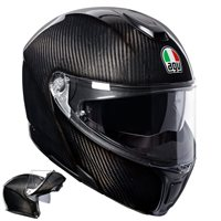 Sports Modular Mono Flip Front Helmet (Gloss Carbon) by AGV