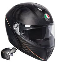 AGV Sports Modular Tricolore Flip Front Helmet (Matte Carbon Italy)