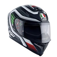 AGV K5-S Firerace Italy Motorcycle Helmet (White|Red|Green)