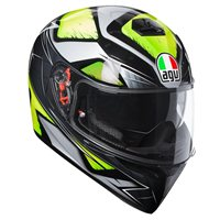 AGV K3 SV Liquefy Motorcycle Helmet (Grey|Yellow)