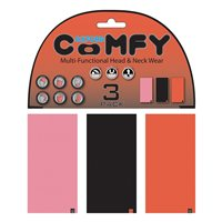 Oxford Comfy Pink/Black/Red Multitube 3-Pack