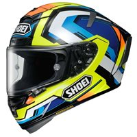 Shoei X-Spirit 3 Brink TC-10 Helmet (Yellow|Blue|Silver)