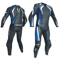 RST R-18 CE One Piece Leathers 2068 (Black|Blue)