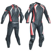 RST R-18 CE One Piece Leathers 2068 (Black|Red)