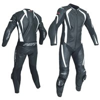 RST R-18 CE One Piece Leathers 2068 (Black|White)