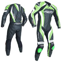 RST Tractech Evo 3 One Piece Leathers (Black|Green) 2041