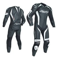 RST Tractech Evo 3 One Piece Leathers (Black|White) 2041