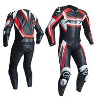 RST Tractech Evo R One Piece Leathers (Black|Flo Red) 2054
