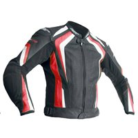 RST R-18 CE Leather Jacket 2069 (Black|Red)