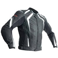 RST R-18 CE Leather Jacket 2069 (Black|White)