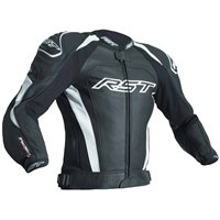 RST Tractech Evo 3 CE Leather Jacket 2051 (Black|White)