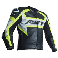 RST Tractech Evo R CE Leather Jacket 2049 (Black|Flo Yellow)