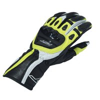 RST R-18 Semi Sport CE Motorcycle Glove 2085 (Black|Flo Yellow)