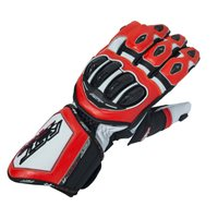 RST Tractech Evo R CE Motorcycle Glove 2092 (Black|White|Flo Red)