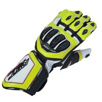 Tractech Evo R CE Motorcycle Glove 2092 (Black|White|Flo Yellow) by RST