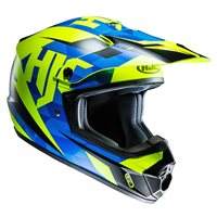HJC CS-MX II Dakota Moto-X Helmet (Blue|Fluo Yellow)