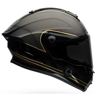Bell Race Star Ace Café Carbon Helmet (Matt & Gloss Black|Gold)