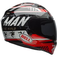 Bell Qualifier DLX Helmet Isle of Man (Black|Red) with Transition Visor