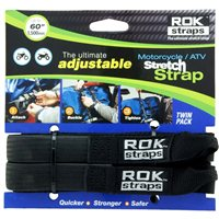 Oxford ROK Motorcycle Straps HD 25mm Adj Black