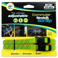 Oxford ROK Commuter Straps LD 12mm Adjustable Green Reflective